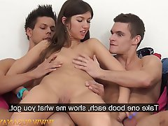 Casting, Czech, Orgasm, Pornstar, Threesome