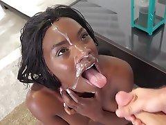 Bukkake, Cumshot, Facial, Interracial