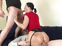 Anal, Brunette, Cumshot, German, Threesome
