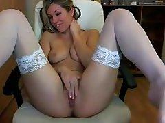 Babe, Masturbation, Pantyhose, Stockings