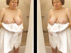 Big Boobs, Big Butts, Mature, Shower