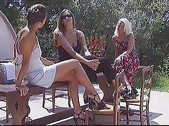 Cunnilingus, Czech, Lesbian, Outdoor, Threesome