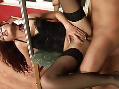 Blowjob, Brunette, Cumshot, Small Tits, Party
