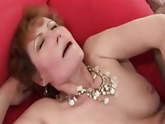 Cumshot, Granny, Hairy, Interracial