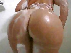 Brunette, Shower, Close Up, Amateur, Softcore