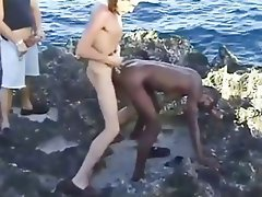 Amateur, Babe, Interracial, Outdoor, Threesome